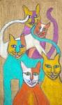 Burlap cats